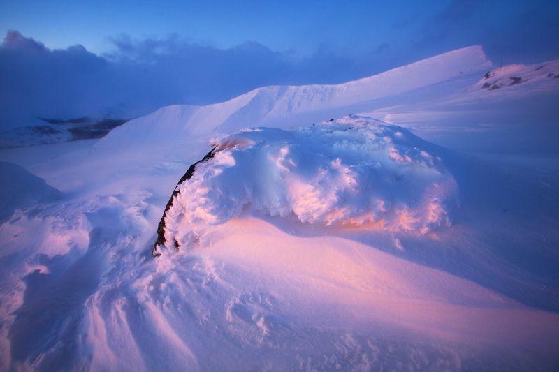 Закат, горы, хибины, снег, наст Краски закатаphoto preview