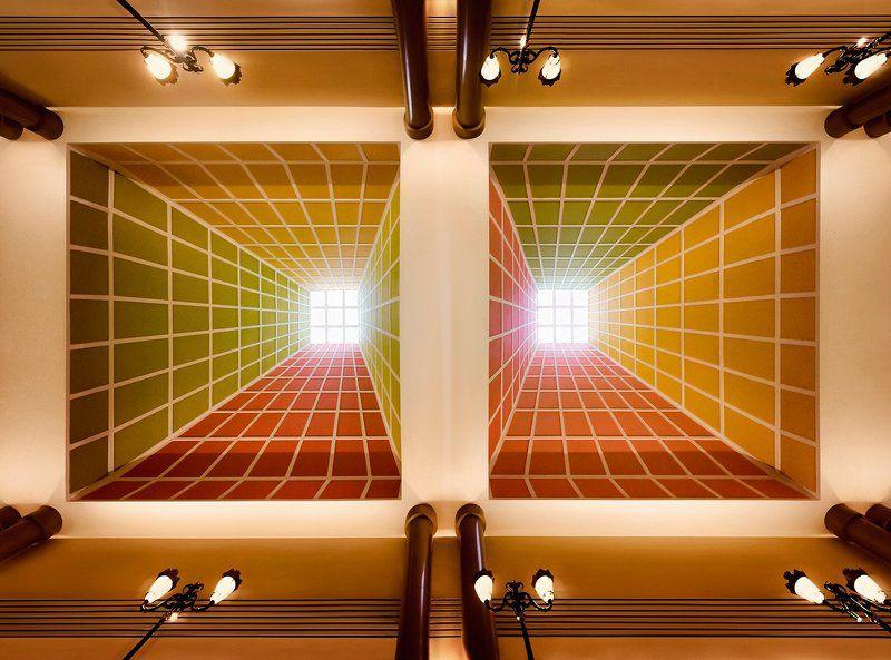 интерьер, крыша, потолок, архитектура, абстракция Бифуркацияphoto preview