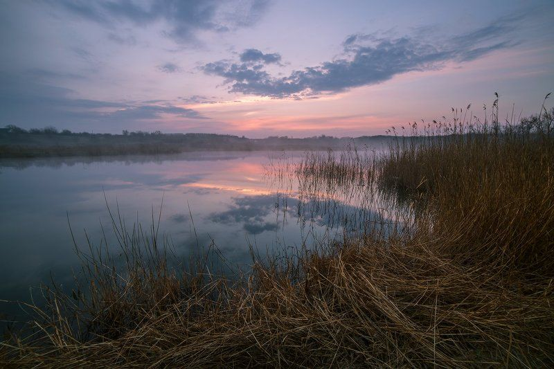 март, рассвет, пруд, хутор, первомайский Рассветы мартаphoto preview