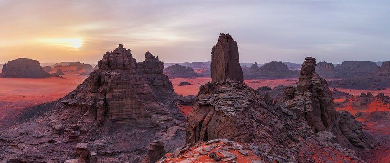 Алжир, Тадрарт, пустыня, Сахара, Марс,  \