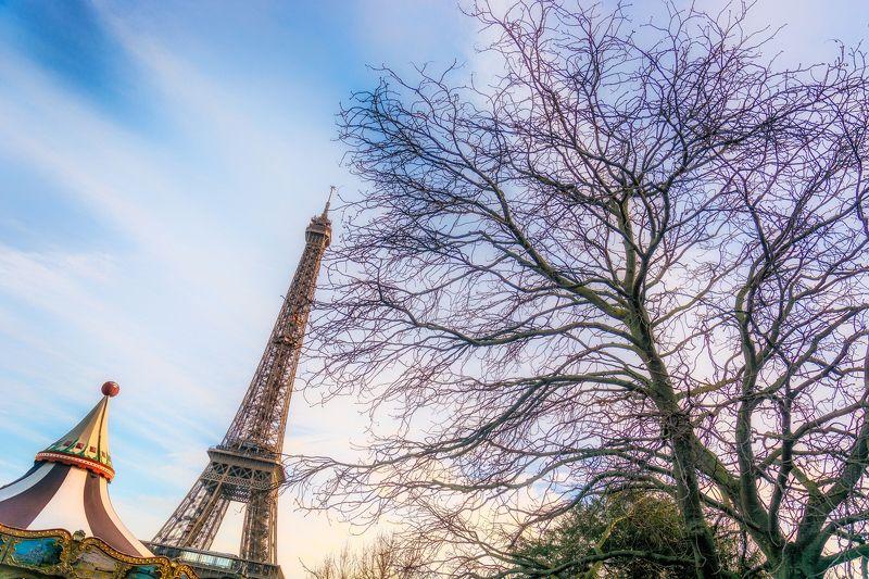paris, trees, carousel, winter Еще раз о нем ...photo preview