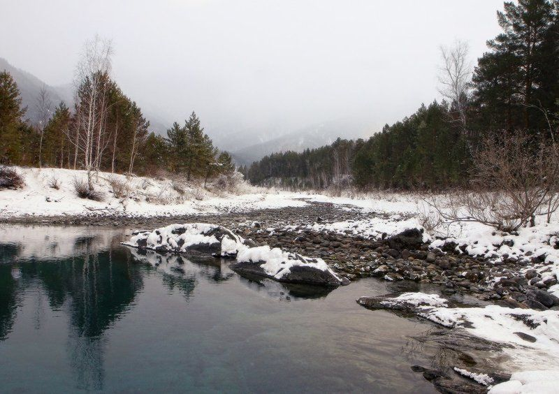 алтай, катунь, голубые озёра, аскат Меланхолияphoto preview