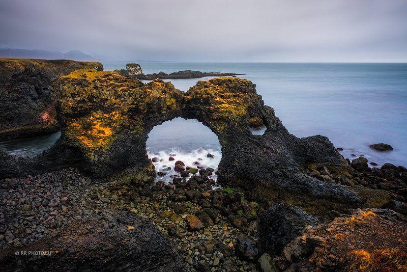 Gatklettur , iceland, landscape, long exposure, rock, sea, outdoor,  Gatklettur - Icelandphoto preview
