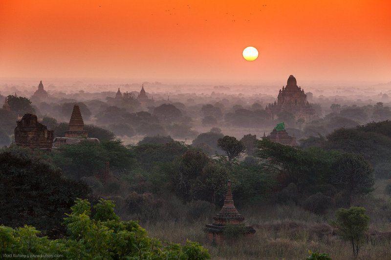 баган, мьянма, бирма, древнийгород, пагоды, храмы, буддизм, burma, myanmar, bagan, pagan, temples, temple, pagoda, sunset, oldcity, рассвет Morning in Baganphoto preview