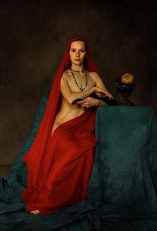Портрет дамы с мертвой натурой.photo preview
