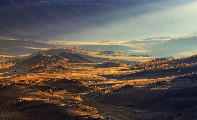 горный алтай, курай Солнцем залита долинаphoto preview