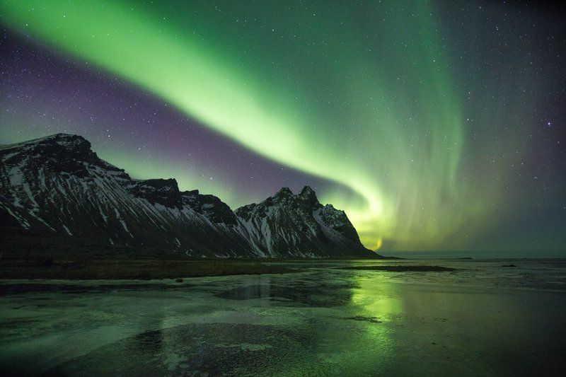 северное сияние, aurora borealis ,исландия , stokksnes , ледовая лагуна Мечты сбываются , трофей моей первой охоты)))photo preview