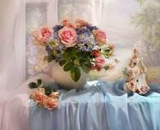 Нас розы нежный аромат манит в мечтательные дали...