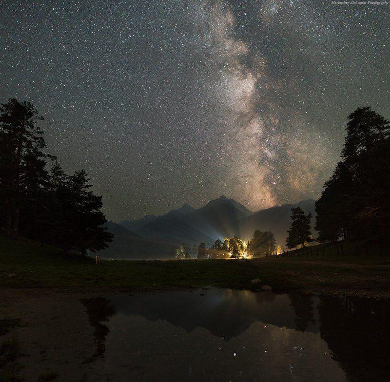 архыз, млечный путь, софия, milky way, август, звезды ***photo preview