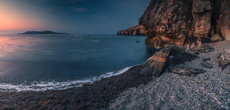 панорама, утро, мое, скалы ***photo preview