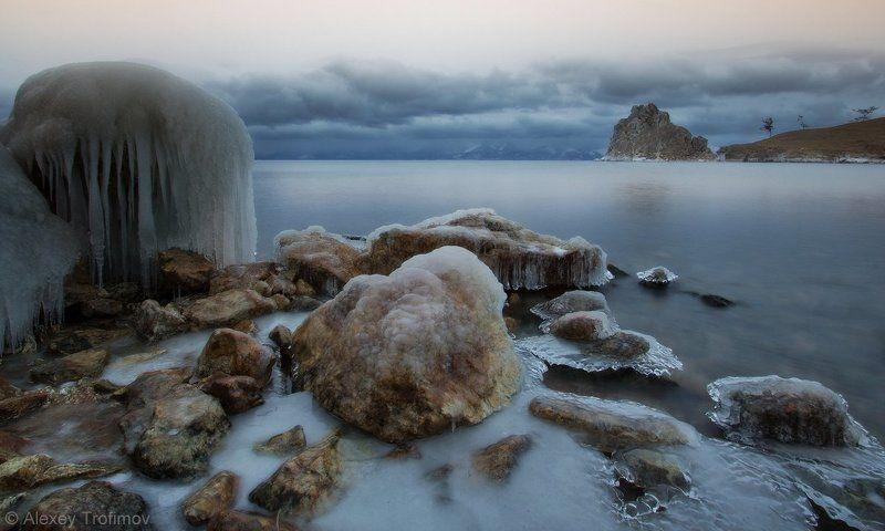 байкал, ноябрь, поздняя осень, пейзаж, сокуи, шаманка, бурхан, ольхон Серебряное утроphoto preview