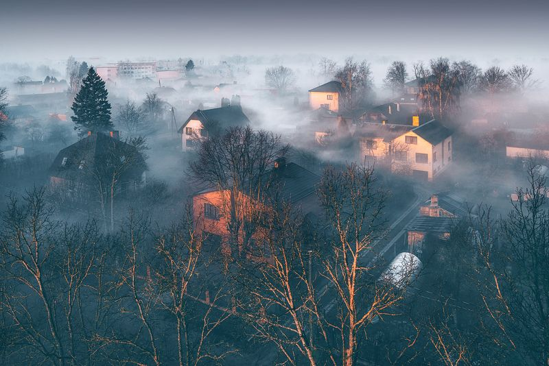 fog#landscape#туман#пейзаж#latvia#jelgava#утро  Kогда солнце встает,pазгоняя туман photo preview