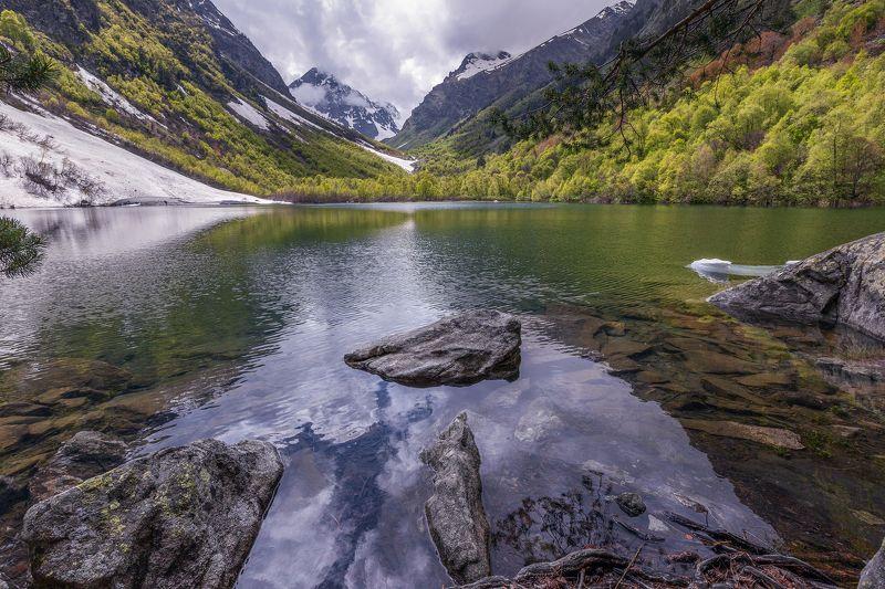 карачаево-черкесия,бадукские озера,теберда Третье Бадукское озеро ...photo preview