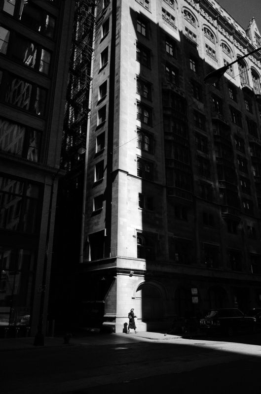 black and white , street , street photography City lightphoto preview