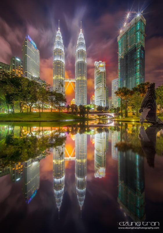 #cityscape #malaysia #kualalumpur #reflection #night Kuala Lumpur in firephoto preview