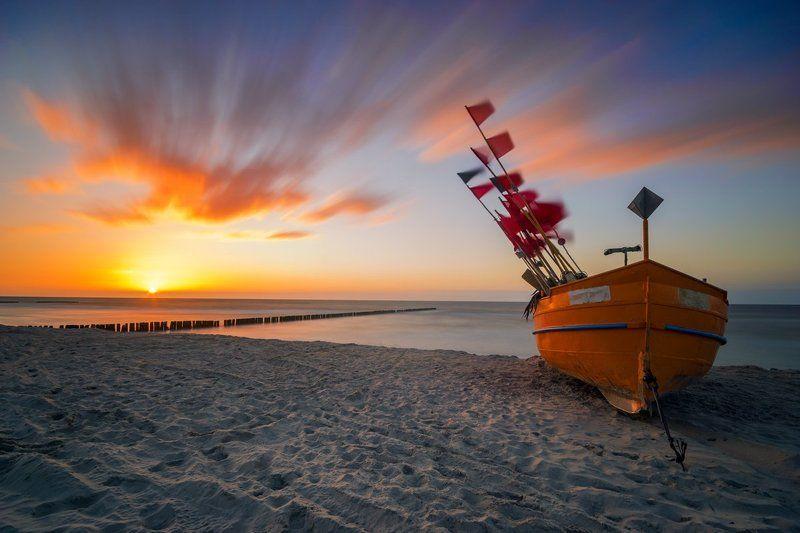 sea,sunset,baltic,poland Baltic seaphoto preview