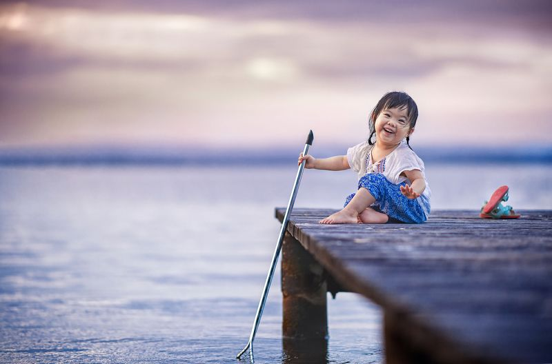 kid, child, girl, sunset, lake, cute, face, family, travel, fishing celinephoto preview