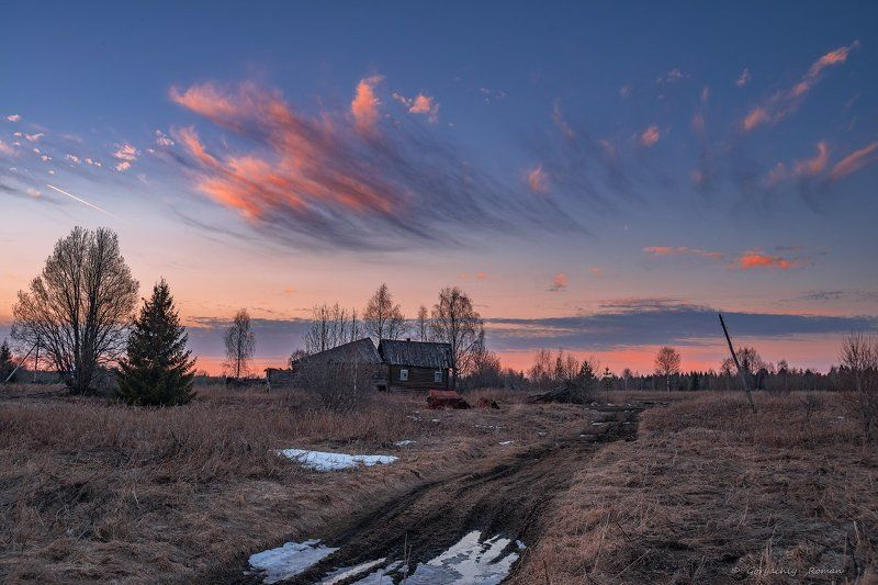 великий двор, весна, вологодчина, кема, север Апрель.photo preview