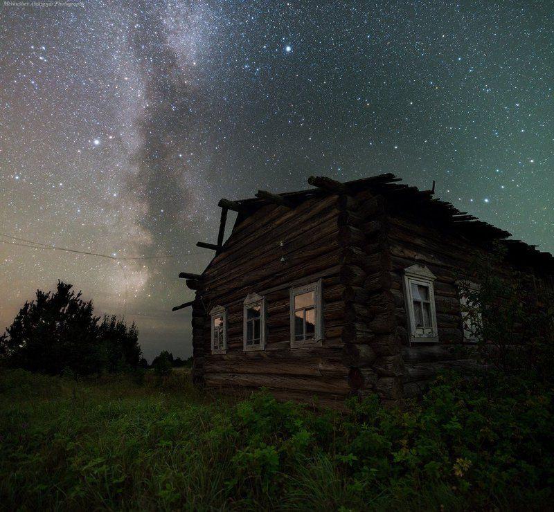 природа, лето, звезды, млечный путь, milky way, stars Звездная Избаphoto preview
