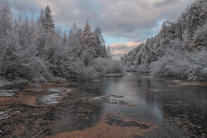 якутия, река чульман, нерюнгри, осень Снежный сентябрьphoto preview