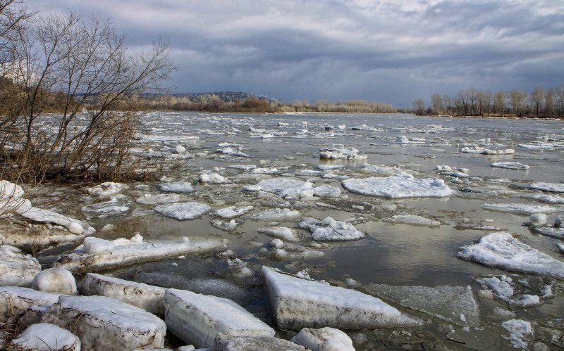 томь, новокузнецк, весна, ледоход Лёд тронулся, господа!photo preview