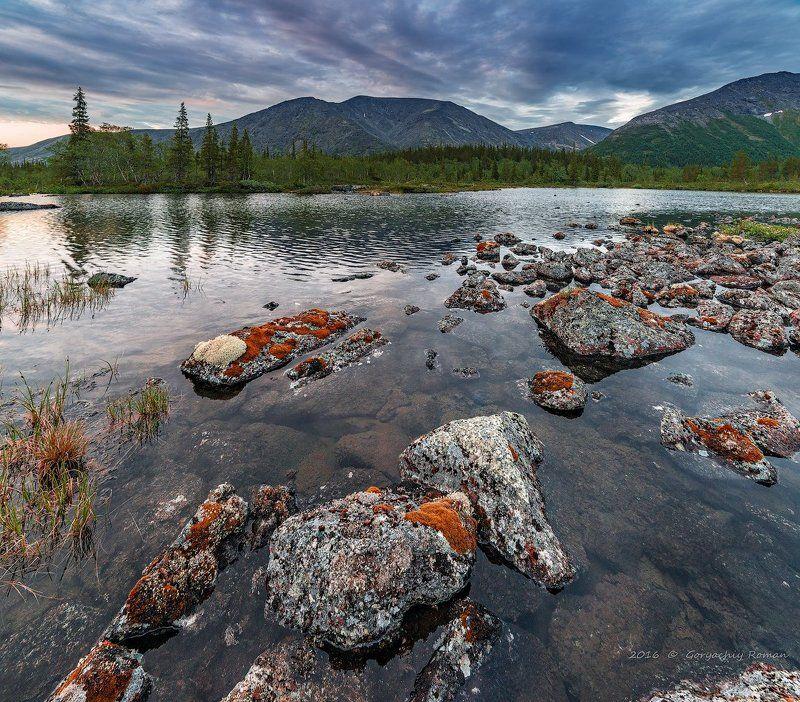 хибины, лето, кольский, заполярье, север, ночь, полярный день, Хибины а полночь.photo preview