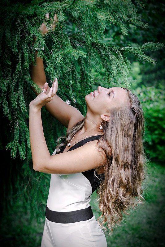 портрет, девушки, парк Настя! photo preview