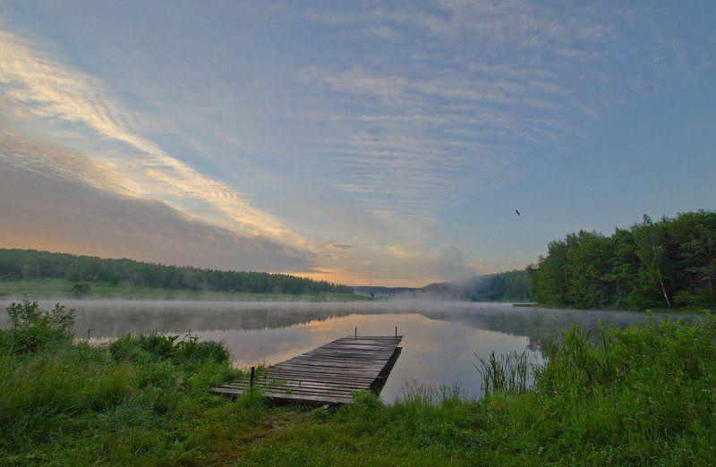 лето август озеро новое природа пейзаж Улетает летоphoto preview