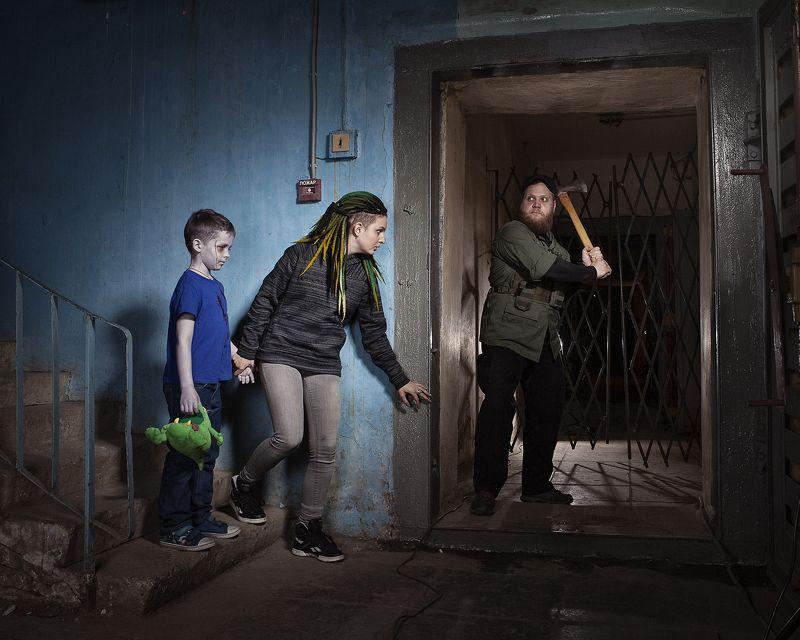 зомби треш топор ребенок бункер Из цикла \