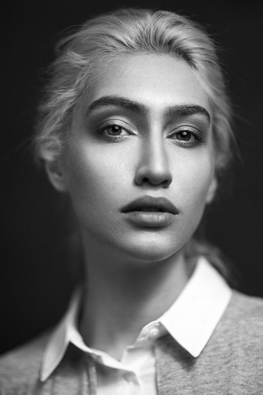 portrait, blackandwhite, model, face, eyes, lighting, headshot, Niloofarphoto preview