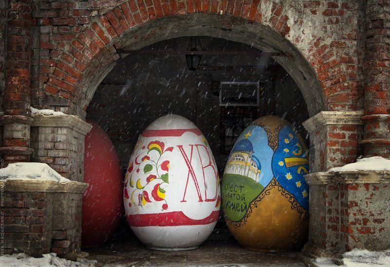 Пасха, Easter, Москва, Moscow, монастырь, весна, зима, снег Христос воскресе! / Happy Easter!photo preview