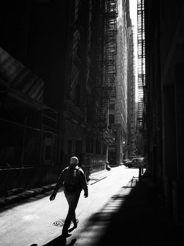Black and white , street , street photography A passerbyphoto preview
