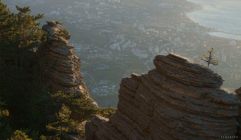 Крым, Таракташ, Ялта, горы, рассвет, скалы, Ай-Петри. \