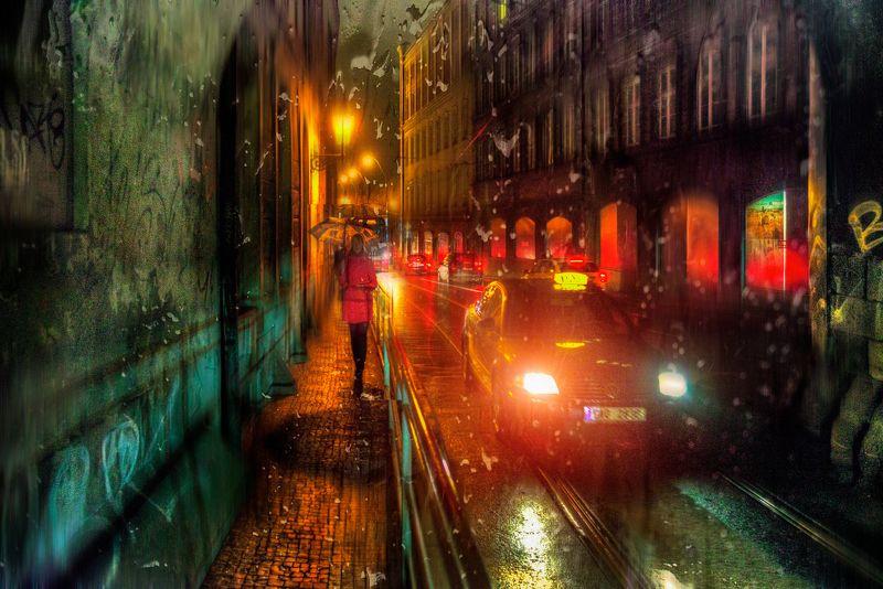 прага апрельский дождь в Праге...photo preview