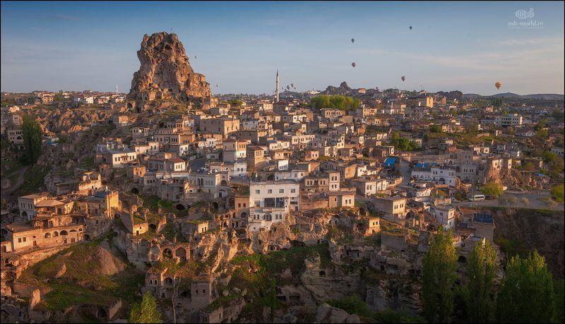 Турция, Каппадокия, пейзаж, рассвет, путешествия,  Сказочная Каппадокияphoto preview