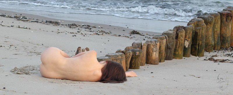 nude, girl, beach Buhnenphoto preview