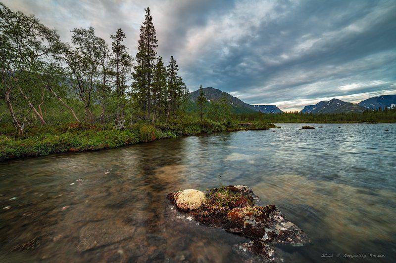 хибины, лето, кольский, заполярье, север, ночь, полярный день, Летняя ночь. Хибины.photo preview