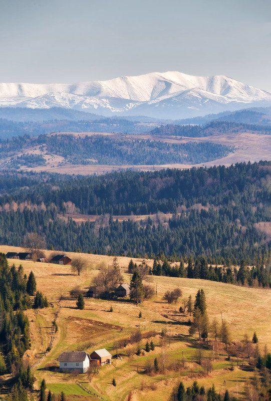 Апрель, Боржава, Весна, Горы, Карпаты Апрель в Бескидахphoto preview