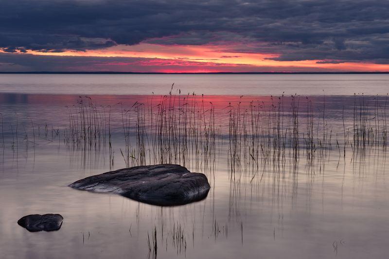 Рассвет на Онежском озереphoto preview