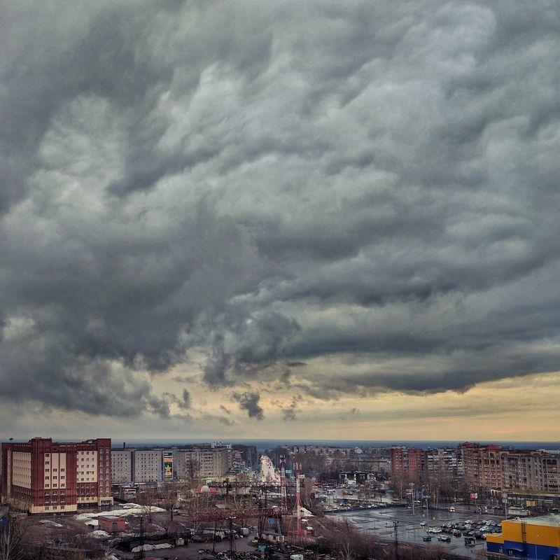 небо, мобильнаяфотография Небо над Томскомphoto preview