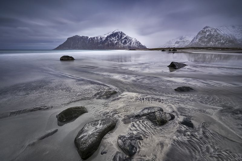 arctic, background, beautiful, beauty, blue, clouds, coast, cold, dramatic, europe, freeze, frost, ice, idyllic, lake, landscape, lofoten, mountain, nature, near, nordland, north, norway, outdoor, panorama, peaks, polar, range, road, rock, rocky, scandina Skagsanden beachphoto preview