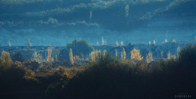 крым, эски-кермен, предгорья, осень, каменоломни. Каменоломни Эски-Кермена.photo preview
