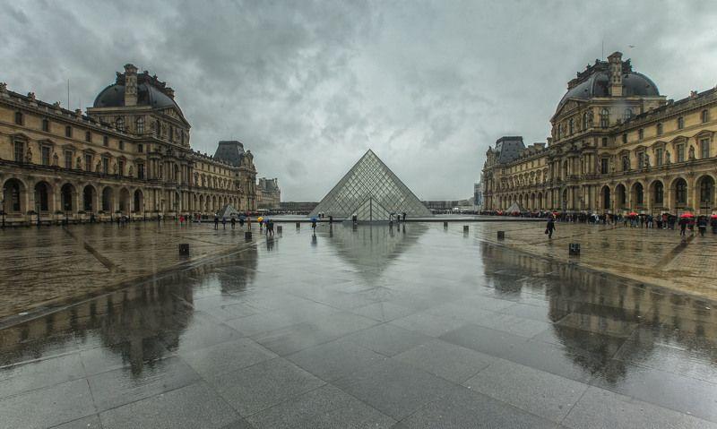 Дождливый день.... Лувр. Париж. Францияphoto preview