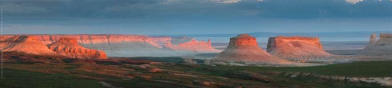 пейзаж, закат, панорама, ландшафт, необычный, Казахстан, Бозжира, sunset, sundown, landscape, panorama На Марсе / On Marsphoto preview