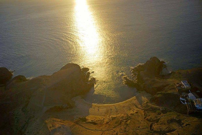 Канарские острова, Лансароте, аэро, дрон, коптер Бухта \
