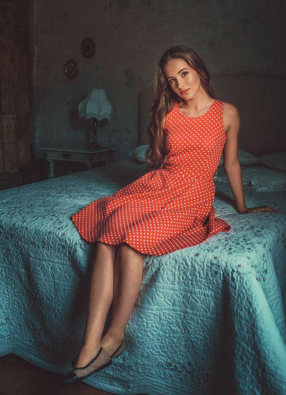 girl, female, pretty, portrait, red dress Gabiaphoto preview
