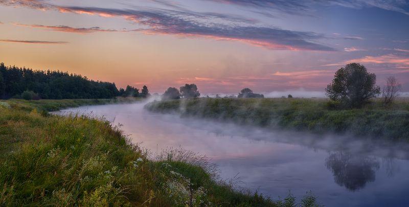 Тихо струится река серебристая...©photo preview