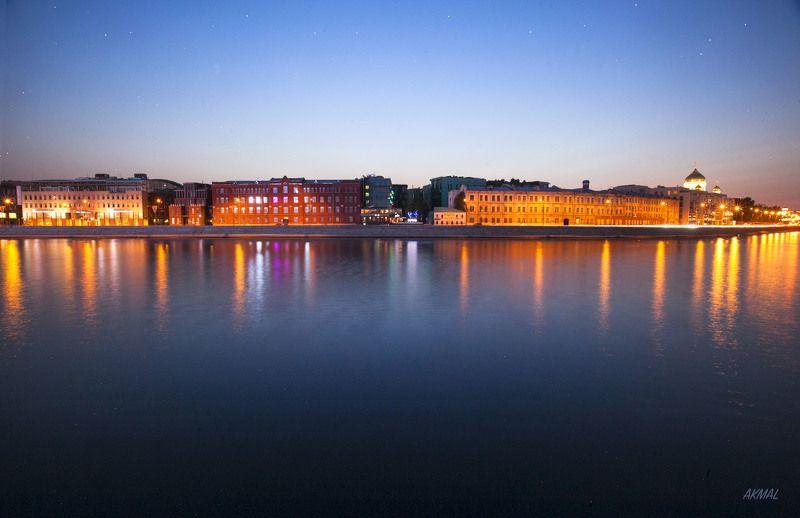 Поздний вечер на Москве реке....photo preview