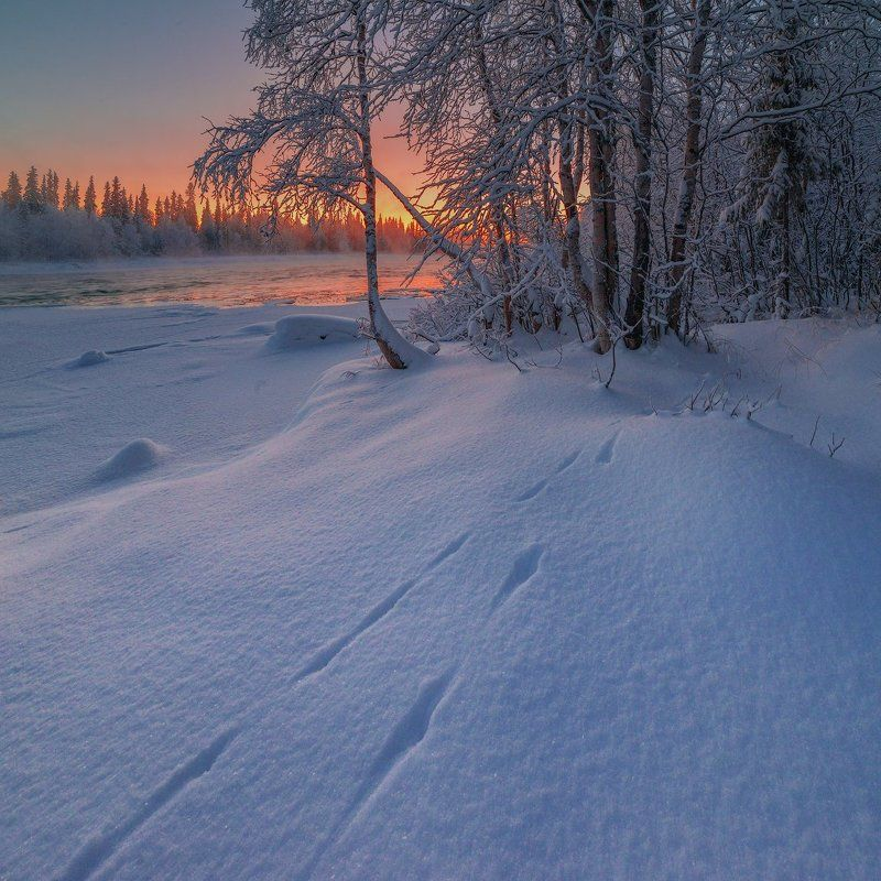 кольский, север,заполярье, умба, река, ... к закату.photo preview