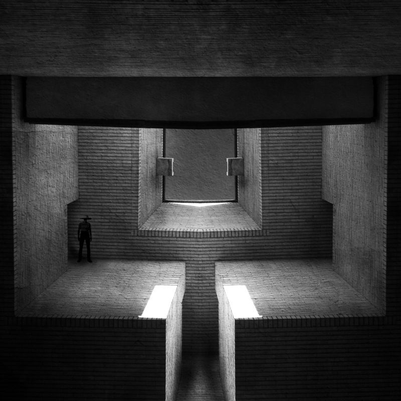 minimal, lines, abstrat, shadow, architecture, human, holography, conceptual, creative, The space in betweenphoto preview